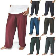 Men's One Size Rayon Baggy Pants Trousers Harem Hippie Pants Boho Yoga  New