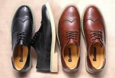 STYLISH MEN'S LACE UP CLASSIC WING TIP OXFORDS LEATHER CASUAL BROGUE DRESS SHOES