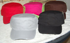 womens military cadet style hats one size fits all. with adjusting strap on back