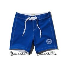 NEW ABERCROMBIE & FITCH MEN A&F Great Range Swim Board Trunks Shorts Blue M-L-XL