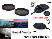 F268a 58mm Neutral Density ND4 ND8 Filter Kit & Case for CAMCORDER CAMERA LENS
