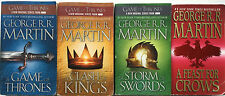GAME OF THRONES Series Books 1-4 by George R R Martin 4 lot Clash Storm Feast