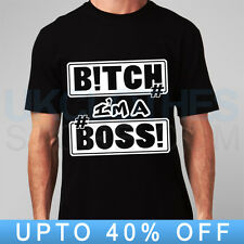 B!TCH IM BOSS KINGS TRAPSTAR 40OZ OBEY WASTED YOUTH RAP COMME DES RAP  T SHIRT