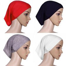 Islamic Muslim Head Scarf Cotton Underscarf Hijab Cover Head Wrap Bonnet 1 Pcs
