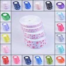 Heart Grosgrain Ribbon Roll 25 Yards Width 10 15 25 38mm Wedding Card Make Gift