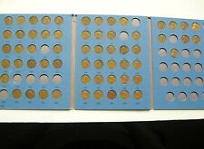 1909 - 1970 D Lincoln Wheat Penny Book w/ 67 Coins    Lo