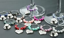 Wine Glass Charms Wedding Table Decorations Favours - Purple - DIY