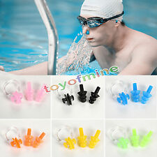 New Soft Silicone Swimming Set Nose Clip + Ear Plug Earplug Useful With Box US