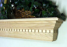 OAK DENTIL WOODEN FIREPLACE MANTEL MANTLE SHELF CUSTOMIZE TO MEET YOUR NEEDS