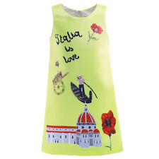 Girls Summer Floral Print Dress Party Princess Sleeveless Age 3-8 Years