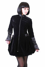 Last One!!!Velvet High Collar Gothic Steampunk Victorian Flounce Jacket. Size 10
