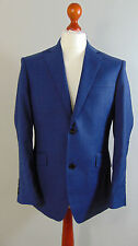 Italian Made AUSTIN REED Mens Navy Blue Overcheck Suit Jacket 42S, 44R, 44L, 46R
