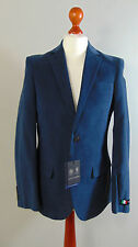 Italian AUSTIN REED Mens Navy Blue Brushed Cotton Suit Jacket Coat NEW 38R, 40R