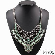 new crystal necklace bib statement pendant fashion choker collar luxury necklace