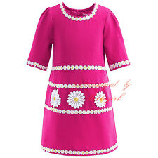 Girls Daisy Party Dress Princess Pageant Summer Holiday Flower Kids Dresses NEW