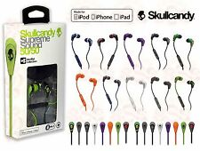 NEW SKULLCANDY 50/50 SUPREME SOUND EARBUDS HEADPHONES WITH MIC + CARRY CASE