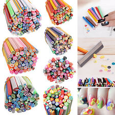 7 Styles 50pcs 3D Nail Art Fimo Canes Stick Rods Polymer Clay Stickers Decorati