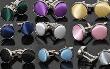 Vintage Stainless Steel Mens Wedding Party Gift Shirt Cuff Links Cufflinks
