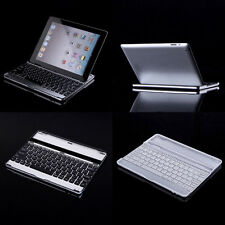 Bluetooth Wireless Aluminum Keyboard Case Cover Stand Dock for Apple iPad 2/3/4