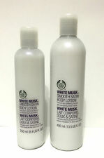 The Body Shop White Musk Smooth Satin Body Lotion NEW PICK SIZE 8.4oz OR 13.5oz
