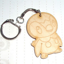 Classic 80s Retro Arcade Game Pokemon Wooden Character Charm keyring Piplup
