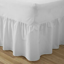 Fitted Valance sheet available in single, double and king in Cream and White