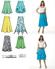 Simplicity Sew Pattern 2449 Pull-on Gored Flared Skirts, Tacked & Godets  6-22