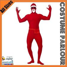 New Gangster Santa Second Skin Suit Zentai Suits Fancy Dress Costume All Sizes