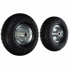 Golf Cart Air Tires 2pack 10in w/Rim Wheels 4-Bolt Holes Go Cart Dolly Try Cycle