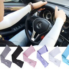 Fashion Cooling UV Arm Sleeves Sun Protective Cover Half Hand Golf Bike Driving