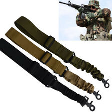 Adjustable Tactical Point Airsoft Paintball Rifle Sling Hunting Gun Strap Cord