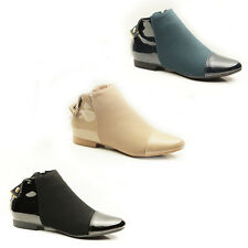 WOMENS LADIES CHELSEA STYLE LOW HEEL ANKLE BOOTS BOOTEIS SHOES SIZE 3-8