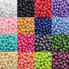 Wholesale Glass Pearl Round Spacer Loose Beads 4mm/6mm/8mm/10mm T1