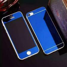 Front+Back Colored Mirror Tempered Glass Screen Film For iPhone 7 7 Plus 6/s 5s