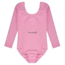 Kids Girls Long Sleeve Bodysuit Ballet Leotard Blouse Top Dancewear EA77