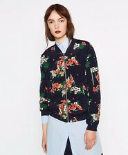 BNWT Current ZARA Floral Light-weighted Bomber Baseball Jacket Size XS M L Navy