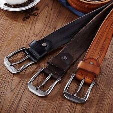 Fashion Men's Casual Wide Vintage Soft Leather Belt Strap Pin Buckle Waistband