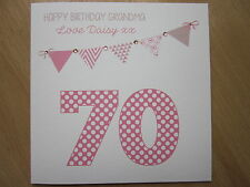 Personalised Handmade Female Birthday Card - 16, 18, 21, 30, 40, 50 any age/name
