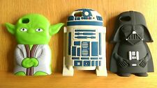 STAR WARS SILICONE CASE COVER IPHONE 5/5S/6/6S/6+/6S+ YODA R2D2 DARTH VADER
