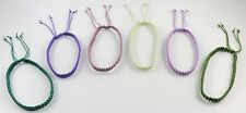 Handmade Knotted Cord Bracelet Adjustable Unisex Macrame Art Assorted Colors