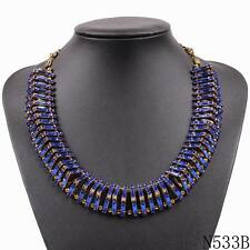 new fashion women vintage bib choker collar crystal chunky statement necklace