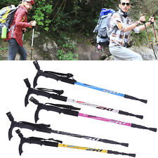 Pioneer 3-Section Telescopic Alpenstock traveling Skiing Hiking Camp Sticks Pole