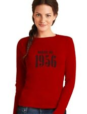 Made in 1956 60th Birthday Gift Idea Retro Cool Women Long Sleeve T-Shirt