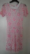 BNWT Bright Pink and Wite Lace Effect Playsuit from Glamour Babe