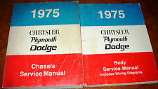 1975 75 Plymouth Chrysler Dodge Shop Manuals Gold Brougham Duster Valiant Scamp