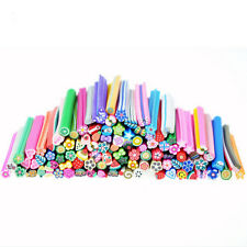 50PCS Style Avilable Nail Art Fimo Canes Rods Lady Stickers Tips 3D Decoration