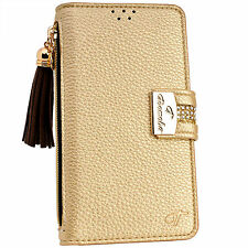 Luxury GOLD PU Leather Flip Wallet Purse Case Card Holder for iPhone 6 6S Plus