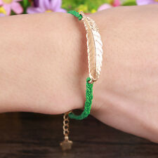 NEW Hot Jewelry Leaves fashion lots Style Leather Cute Infinity Charm Bracelet
