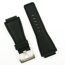 Black Rubberized Watch Band fits Bell & Ross BR01 BR03