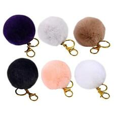 Fur Fluffy Rabbit Hair Ball Key Chain Clip Fuzzy 6colors option New arrived